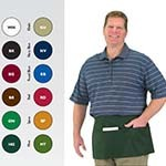 Chef Revival 605WAFH-GN - Kelly Green Waist Apron, 12 x 24in. (24 per case)