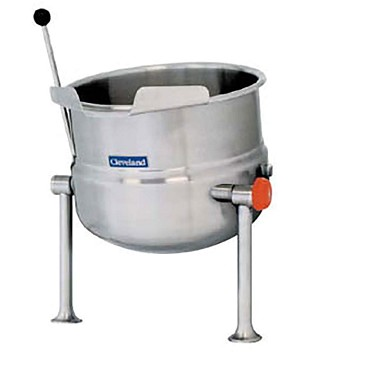 Cleveland KDT12T - Kettle, direct steam, countertop , tilting, 12-gallon, 2/3 steam jacket