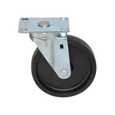 "Component Hardware CMP1-4BPN - Caster, swivel, 4"" diameter, no brake, black wheel"