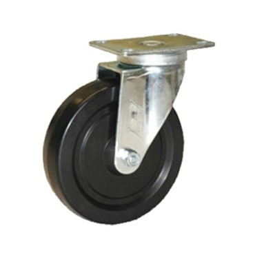 "Component Hardware CMP1-4KPN - Caster, swivel, 4"" diameter, no brake, black wheel"