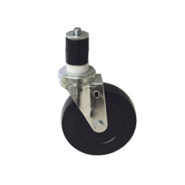 "Component Hardware CMS1-5KPN - Caster, swivel, 5"" diameter, no brake, black wheel"