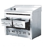 Connerton A4F-G - Broiler/Thermostatic Griddle Combo, 47