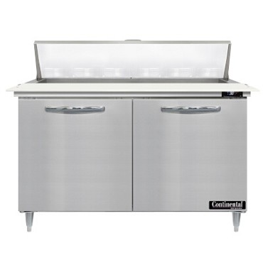 "Continental Refrigerator D48N12C - Sandwich Unit, 48""W, two-section, (2) doors"
