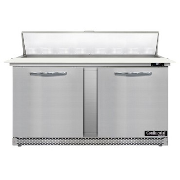 "Continental Refrigerator D60N16C-FB - Sandwich Unit, 60""W, two-section, (2) doors"
