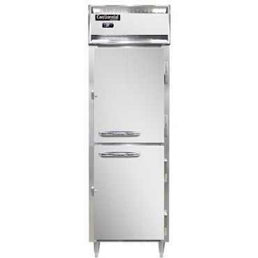 Continental Refrigerator D1RNSAHD - Reach-In Refrigerator, one-section, half solid doors