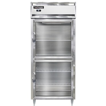 "Continental Refrigerator D1RXNGDHD - Reach-In Refrigerator, 36-1/4""W, one-section, half glass doors"