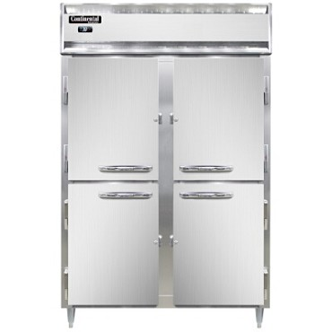 Continental Refrigerator D2RNHD - Reach-In Refrigerator, two-section, half solid doors
