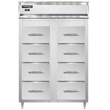 Continental Refrigerator D2RSNSS-F - Refrigerator, fish/poultry file, vertical cabinet, (8) drawers