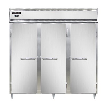 Continental Refrigerator DL3F-SS - Reach-In Freezer, 3-Section