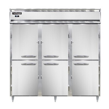 Continental Refrigerator DL3R-SS-PT-HD - Pass-Thru Refrigerator, 3-Section