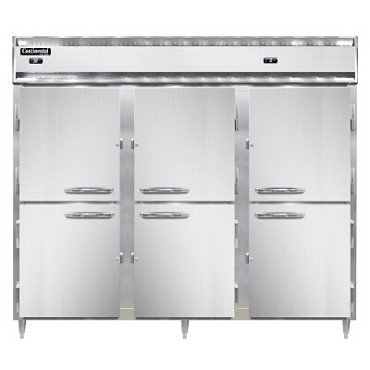 Continental Refrigerator DL3RRFE-SS-PT-HD - Refrigerator/Freezer, 3-Section