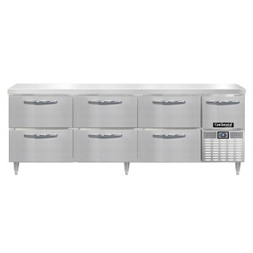 "Continental Refrigerator DRA93NSS-D - Worktop Refrigerator, 93""W, (6) drawers & (1) half doors"