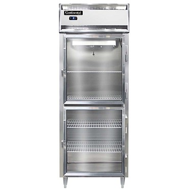 Continental Refrigerator DL1FES-SS-GD-HD - Reach-In Freezer, 1-Section
