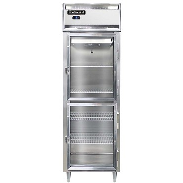 Continental Refrigerator DL1FS-SS-GD-HD - Reach-In Freezer, 1-Section