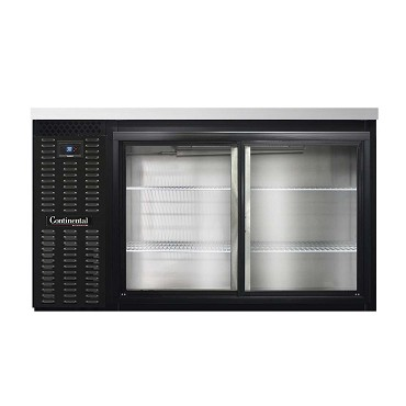 "Continental Refrigerator BB59SNSGD - Back Bar Cooler, 59""W, sliding glass doors, black"