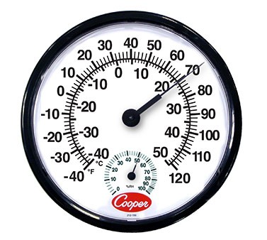 212-150-8 Cooper-Atkins - Indoor/Outdoor Wall Thermometer, 12 ...