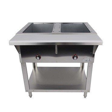 Cozoc ST5005E-2 - Hot Food Table, 31.6 in., (2) 8 in. deep wells