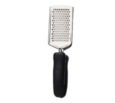 "Focus 539BKDC - Cheese Grater, 10""L, ergonomic Santoprene handle, 18/8 stainless steel"