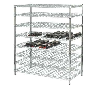 "Focus FDWSK3663CH - Double Wine Shelving Kit, wire, (10) 36"" x 24"" shelves, 63""H, chromate"