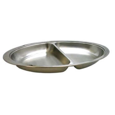 Update International DC-2DF - Chafer Food Pan, oval, 2 division, for 6 quart DC-3