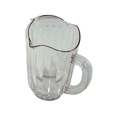 "Update WP-60PC - Water Pitcher, 60 oz., 8-1/8""H, 3-spout, polycarbonate, clear"