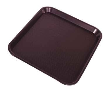 "Crestware FFT1216BR - Fast Food Tray, 12"" x 16"", brown, (Case of 48)"