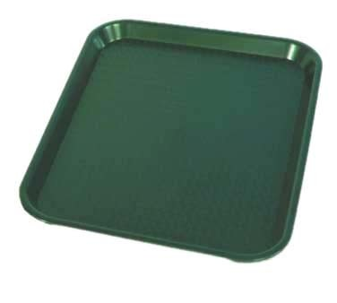 "Crestware FFT1014G - Fast Food Tray, 10"" x 14"", green, (Case of 48)"