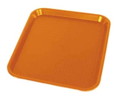 "Crestware FFT1418O - Fast Food Tray, 14"" x 18"", orange, (Case of 48)"