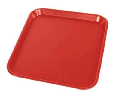 "Crestware FFT1014R - Fast Food Tray, 10"" x 14"", red, (Case of 48)"