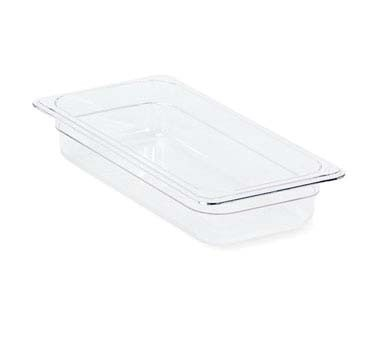 "Crestware FP12 - Food Pan, full size, 2-1/2"" deep, polycarbonate, clear, (Case of 12)"