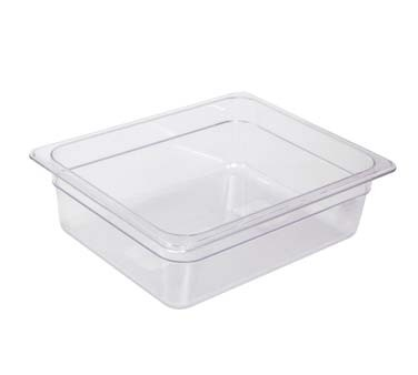 "Crestware FP22 - Food Pan, 1/2 size, 2-1/2"" deep, polycarbonate, clear, (Case of 24)"
