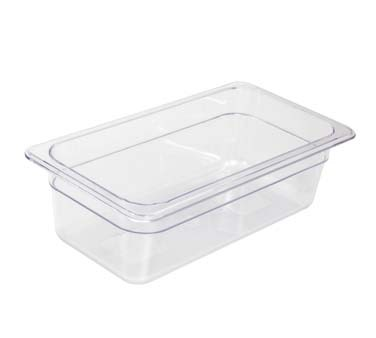 "Crestware FP36 - Food Pan, 1/3 size, 6"" deep, polycarbonate, clear, (Case of 24)"