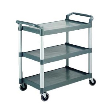 "Crestware RTROLLEY - Regular 3-Tier Cart, 16-1/2"" x 24-1/2"" x 36""H, up to 265 lbs. capacity"