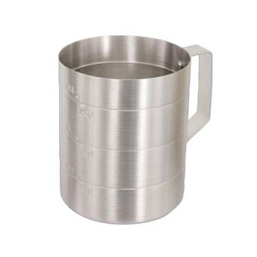 Crestware MEA04D - Dry Measuring Cup, 4 qt., straight sided, (Case of 12)