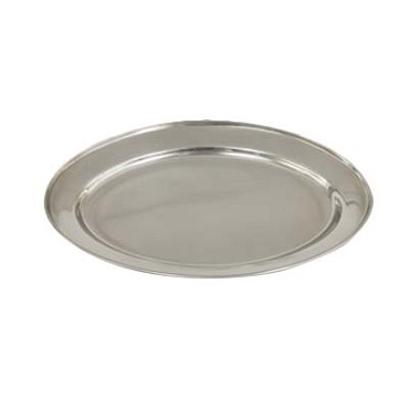 "Crestware OVT22 - Tray, 22"" (actual size 21-1/2"" x 14-3/4""), oval, (Case of 12)"