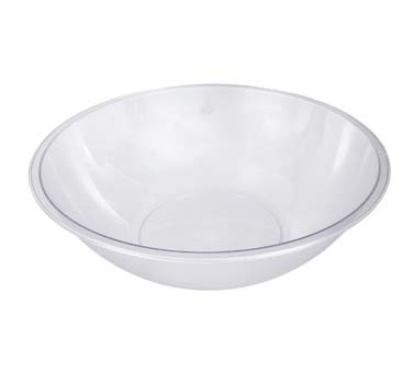 "Crestware PEB18 - Bowl, 500 oz., 18"" dia., pebbled, polycarbonate, clear, (Case of 12)"