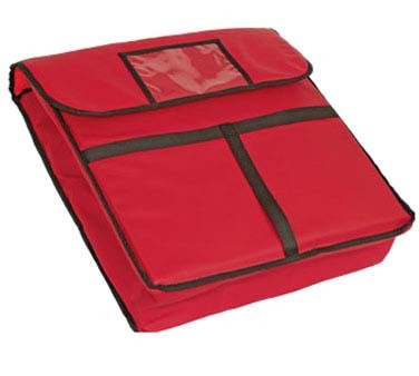 "Crestware PZB20 - Pizza Bag, 20"" x 20"" x 5"", insulated, red, (Case of 5)"