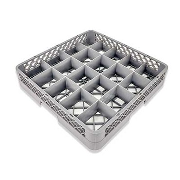 Crestware RBC20 - Dishwasher Rack, 20 compartment, handgrips, gray, (Case of 6)