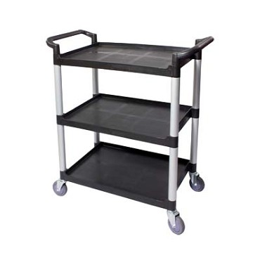 "Crestware LBTROLLEY - Bus Cart, 19-1/2"" x 31"" x 37""H, up to 300 lbs. capacity, black"