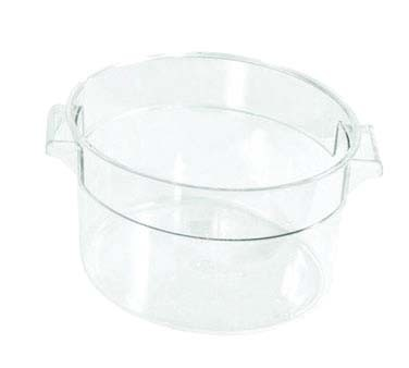 Crestware RCC12 - Food Storage Container, 12 qt., round, stackable, clear, (Case of 6)