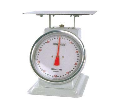 "Crestware SCA10100 - Receiving/Portion Scale, 100 lb. x 4 oz., 10"" dials"