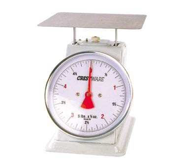 "Crestware SCA625R - Portion Control Scale, 25 lb. x 2 oz, rotating 6"" dial & enameled body (Case of 8)"