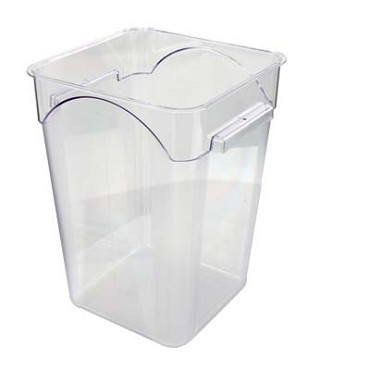 Crestware SQC15 - Food Storage Container, 14 qt., square, clear, (Case of 6)