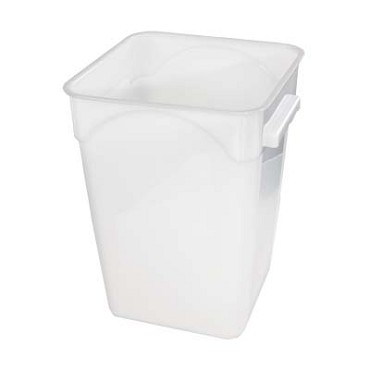 Crestware SQW22 - Food Storage Container, 20 qt., square, white, (Case of 6)