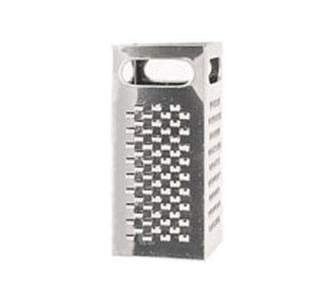 Crestware SSG1 - Grater, square, four-sided, 18/8 stainless steel, (Case of 24)