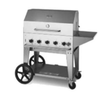 "Crown Verity CV-MCB-36PKG-NG - Outdoor Charbroiler, Natural gas, 34"" x21"" grill area"