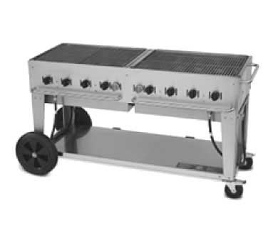 "Crown Verity CV-MCB-60LP - Outdoor Charbroiler, LP gas, 58"" x21"" grill area"