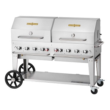 "Crown Verity CV-MCB-60RDP-LP Inc. - Outdoor Charbroiler, LP gas, 58"" x 21"" grill area"