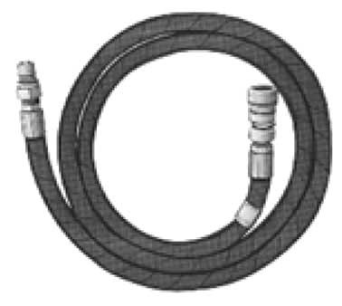 "Crown Verity ZCV-NGH075 - Natural gas 3/4"" hose, 10 ft., comes with quick disconnect for MCB-60 & 72"