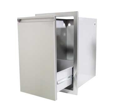 Crown Verity CV-PD1 - Propane/Trash Compartment, stainless steel construction